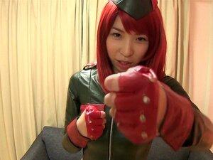 Japonaise cosplay prend la bite